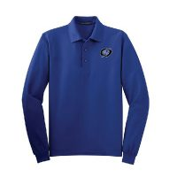 mens long sleeve polo blue