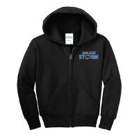 youth fleece full-zip hooded sweatshirt black